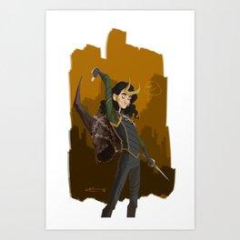 Loki & Crown of Surtur Art Print