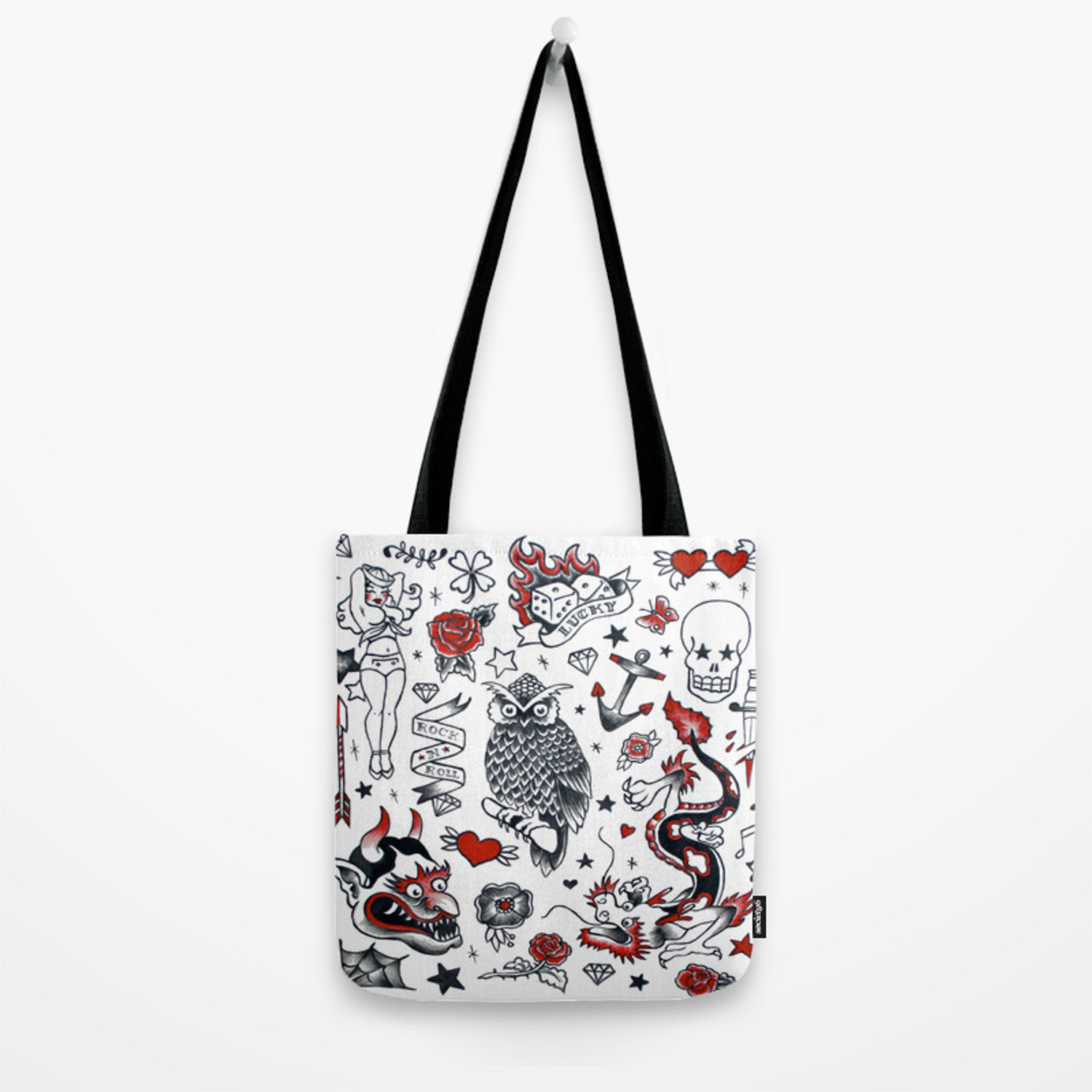 Old School Tattoo Part 1 Tote Bag By