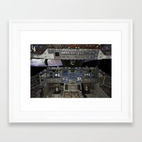 nasa Framed Art Prints featuring Space Shuttle NASA by Planet Prints