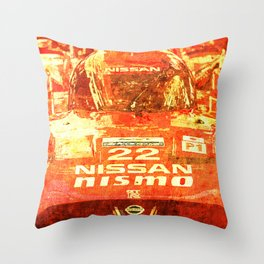 Nissan Le Mans 2015 Nismo number 22 tag heuer race car Throw Pillow