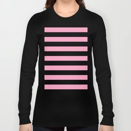 Pink Stripes Long Sleeve T-shirt