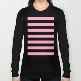 Pink Stripes Long Sleeve T-shirt