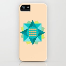 Abstract Lotus Flower - Yoga Print iPhone Case