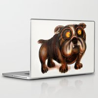 bulldog Laptop & iPad Skins featuring Bulldog by Riccardo Pertici