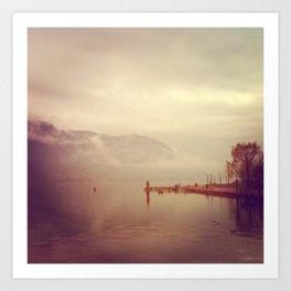 Annecy Un Lac Art Print