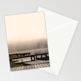 Mason Lake: Beach Front Sepia Stationery Cards