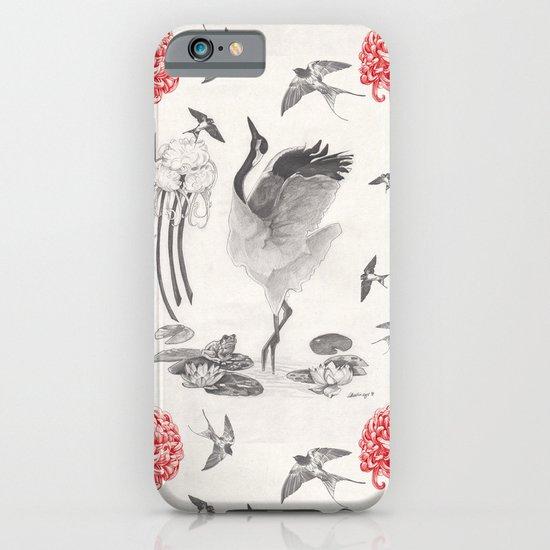 Crane, Swallow, Frog iPhone & iPod Case