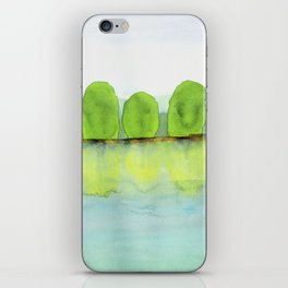 Trees Refecting On The Water iPhone Skin