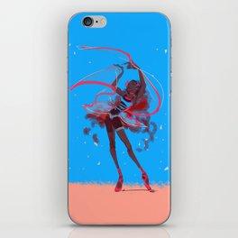 The dance of falling petals iPhone Skin