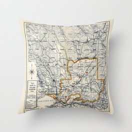 Map of Napa & Solano Counties, California (1913) Throw Pillow