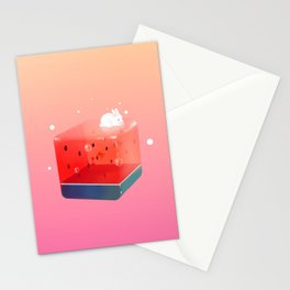 Melon Cube Stationery Cards