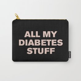 All My Diabetes Stuff (Pink on Black) Carry-All Pouch