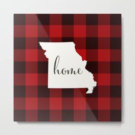 Missouri is Home - Buffalo Check Plaid Metal Print