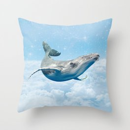WHALE HELLO THERE Throw Pillow