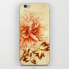 peach and golden floral iPhone & iPod Skin