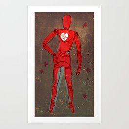 Space lay figure Art Print