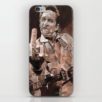 johnny cash iPhone & iPod Skins featuring Johnny Cash by Ray Stephenson