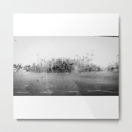 A través del cristal (black and white version) Metal Print