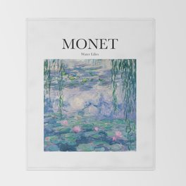 Monet - Water Lilies Throw Blanket