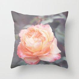 Peachy Rosie Throw Pillow