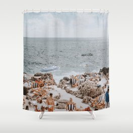 capri, italy Shower Curtain