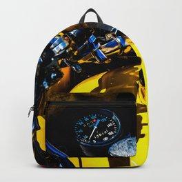 Details Of A Vintage Motorbike Color Backpack
