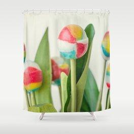 Lollipop Bouquet, Little Girl Room Decor, Wall Art Print Girl, Children Room Print, Lollipop Image Shower Curtain