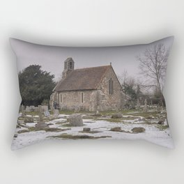 Seasalter Old Church In Winter Rectangular Pillow