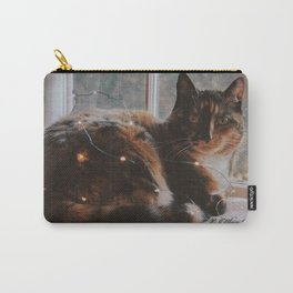 Ella and Christmas Lights Carry-All Pouch