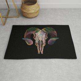 Wild Ram Skull  Rug