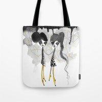 gemini Tote Bags featuring Gemini by Dnzsea
