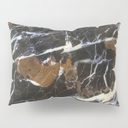 Stylish Polished Black Marble Pillow Sham