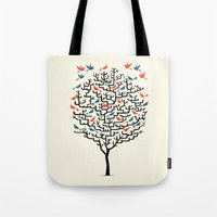 balance Tote Bags featuring Out On a Lark by Oliver Lake