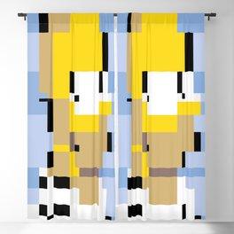 The Simpson Pixel Blackout Curtain