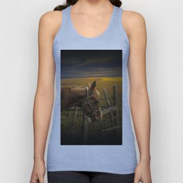 Saddle Horse on the Prairie Unisex Tank Top