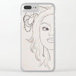 'Sylph Portrait' Clear iPhone Case