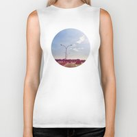 road Biker Tanks featuring Road by Gasoline Rainbow