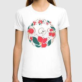 Redflower wreath T-shirt