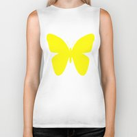 butterfly Biker Tanks featuring Butterfly by Naked N Pieces