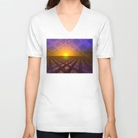 stargate V-neck T-shirts featuring Stargate by Phil Perkins