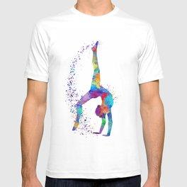Colorful Gymnastics Tumbling Watercolor Art T-shirt