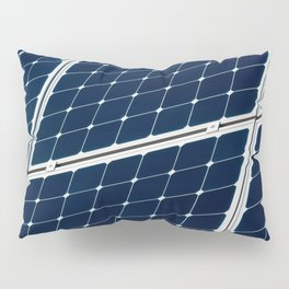 Image Of A Photovoltaic Solar Battery. Free Clean Energy For Everyone Pillow Sham