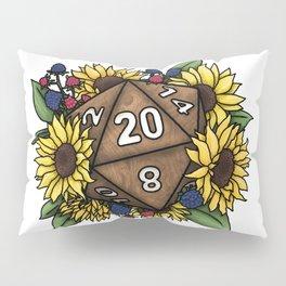 Sunflower D20 Tabletop RPG Gaming Dice Pillow Sham