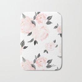 Vintage Blush Floral - BW Badematte