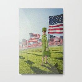 Patriotic Barbie Metal Print