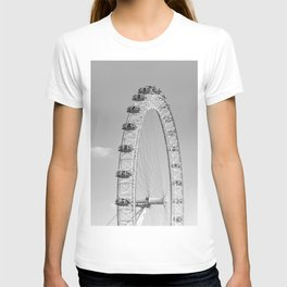 The London Eye (Black and White) T-shirt
