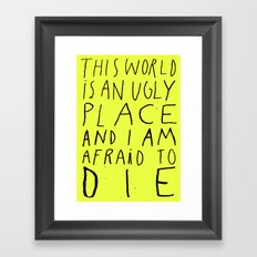 THIS WORLD Framed Art Print