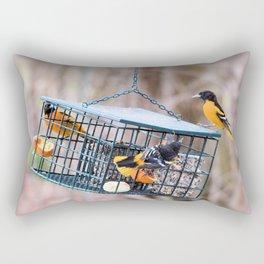 A Feast of Orioles Rectangular Pillow