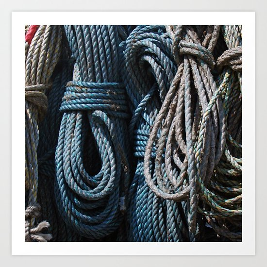 A Load of Old Rope Art Print