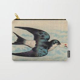 Blue Swallow with Love Letter Carry-All Pouch